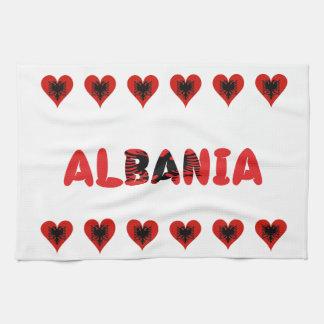 アルバニアのハート キッチンタオル