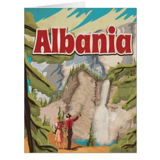 アルバニアのヴィンテージ旅行ポスター カード