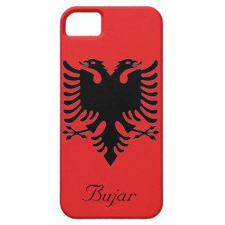 アルバニアの二重頭のワシの名前入りな旗 iPhone SE/5/5s ケース