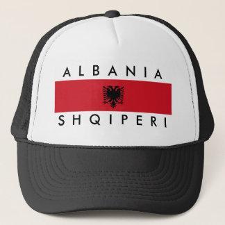 アルバニアの国の長い旗の国家の記号の名前 キャップ