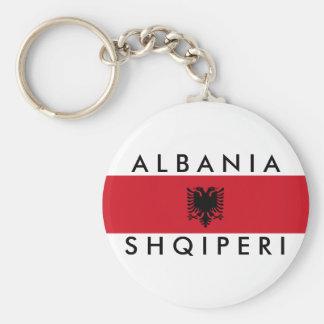 アルバニアの国の長い旗の国家の記号の名前 キーホルダー