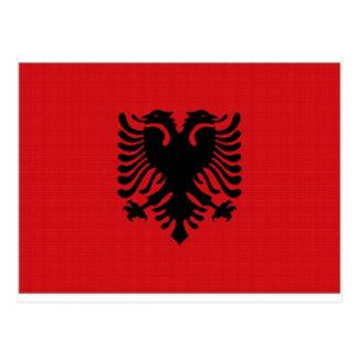 アルバニアの国旗 ポストカード