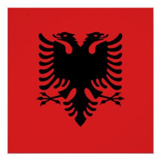 アルバニアの国民の世界の旗 ポスター