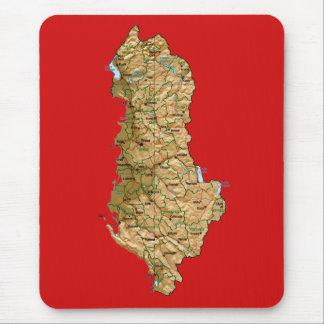アルバニアの地図のマウスパッド マウスパッド