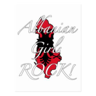 アルバニアの女の子の石! ポストカード
