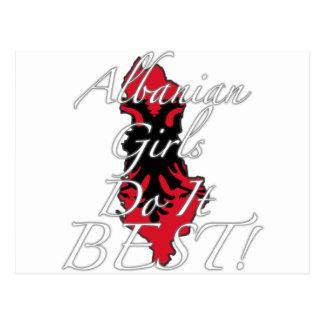 アルバニアの女の子は最も最高のなそれをします! ポストカード