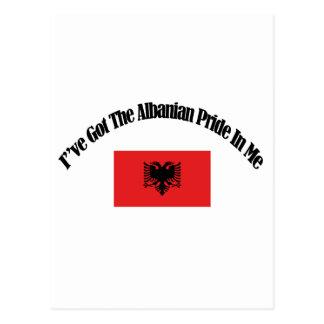 アルバニアの愛国心が強い旗のデザイン ポストカード
