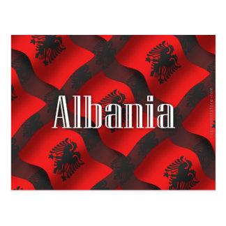 アルバニアの振る旗 ポストカード