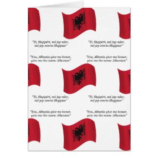 アルバニアの旗そしてモットー カード