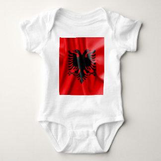 アルバニアの旗のベビーのジャージーのボディスーツ ベビーボディスーツ