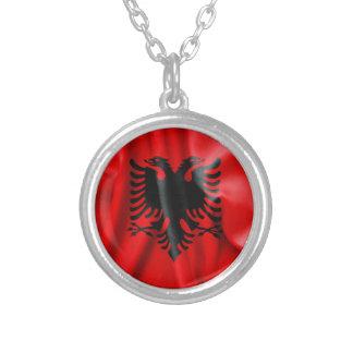 アルバニアの旗の円形の吊り下げ式のネックレス シルバープレートネックレス