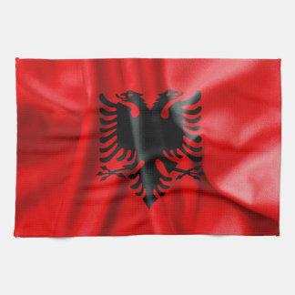 アルバニアの旗の台所タオル キッチンタオル