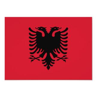 アルバニアの旗の招待状 カード