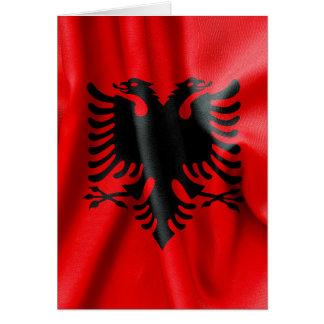 アルバニアの旗の挨拶状 カード