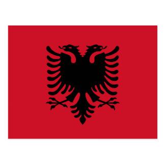 アルバニアの旗の郵便はがき ポストカード