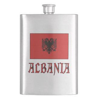 アルバニアの旗のandWord フラスク