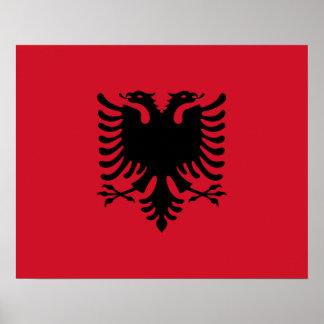 アルバニアの旗ポスター ポスター