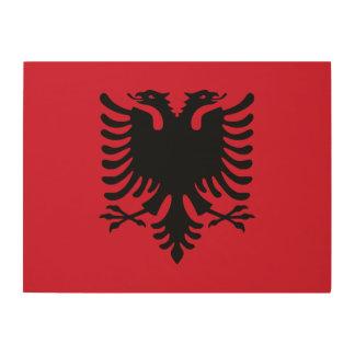 アルバニアの旗 ウッドウォールアート
