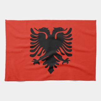アルバニアの旗 キッチンタオル