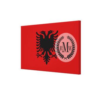 アルバニアの旗 キャンバスプリント