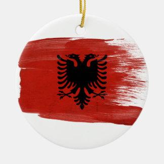 アルバニアの旗 セラミックオーナメント