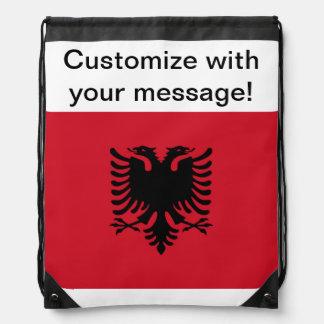 アルバニアの旗 ナップサック