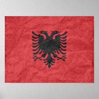 アルバニアの旗 ポスター