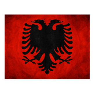 アルバニアの旗 ポストカード
