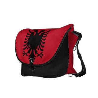 アルバニアの旗 メッセンジャーバッグ