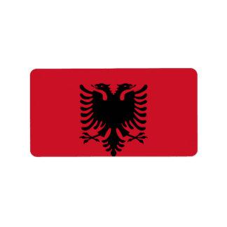 アルバニアの旗 ラベル