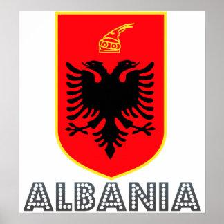 アルバニアの紋章付き外衣 ポスター