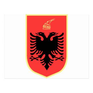 アルバニアの紋章付き外衣 ポストカード