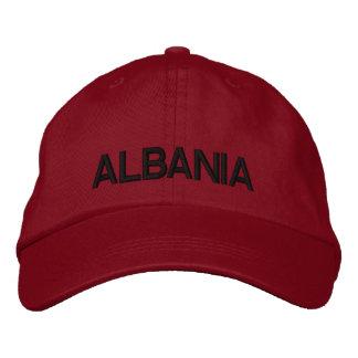 アルバニアの調節可能な帽子Shqipëri Kapak私Porosi 刺繍入りキャップ