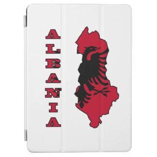 アルバニアの輪郭の地図のアルバニアの旗 iPad AIR カバー