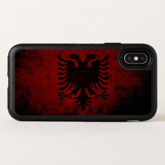 アルバニアの黒くグランジな旗 オッターボックスシンメトリー iPhone X ケース