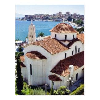 アルバニアのSarandeの教会 ポストカード