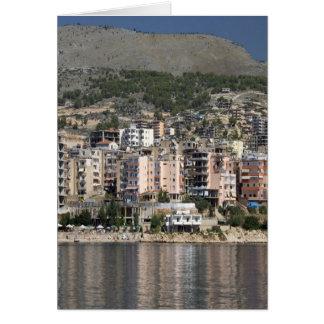 アルバニアのSarandeの町 カード