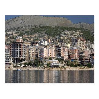 アルバニアのSarandeの町 ポストカード