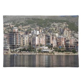 アルバニアのSarandeの町 ランチョンマット