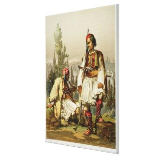 アルバニア人、オットマンの軍隊、パブの傭兵。 b キャンバスプリント