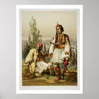 アルバニア人、オットマンの軍隊、パブの傭兵。 b ポスター