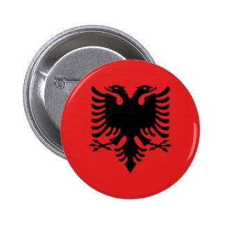 アルバニア共和国の旗 5.7CM 丸型バッジ
