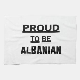 アルバニア語があること誇りを持った キッチンタオル