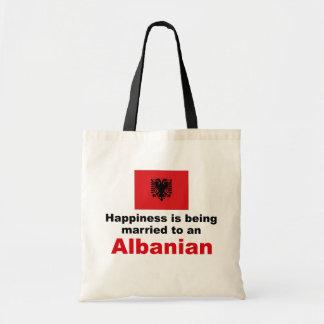 アルバニア語に幸福に結婚した トートバッグ