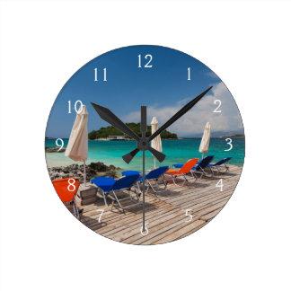 アルバニア語リビエラ、Ksamilの海辺町 ラウンド壁時計