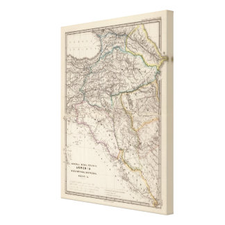アルバニア、イベリア、Colchis、アルメニアのメソポタミア キャンバスプリント