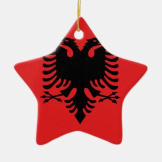 アルバニア- Flamuri I Shqipërisëの旗 セラミックオーナメント