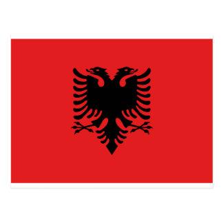 アルバニア- Flamuri I Shqipërisëの旗 ポストカード