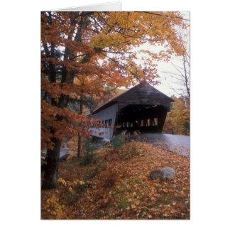 アルバニーの屋根付橋の白山 カード
