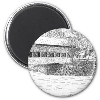 アルバニーの屋根付橋 マグネット